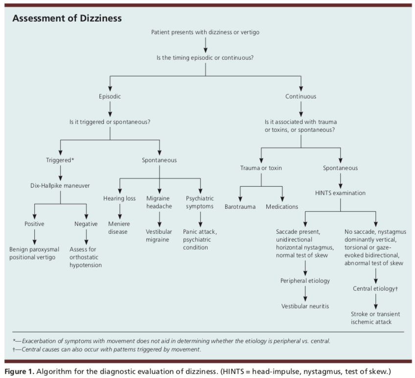 Assessment of dizziness