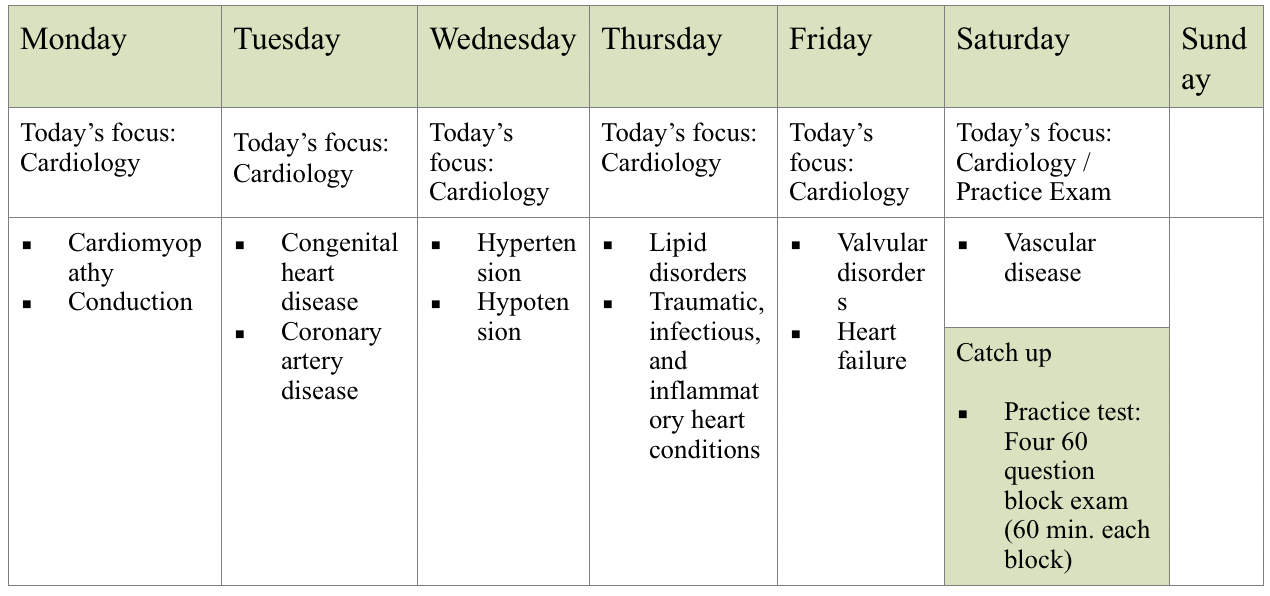 A Deep Dive into the 8 week NCCPA PANCE Study Schedule