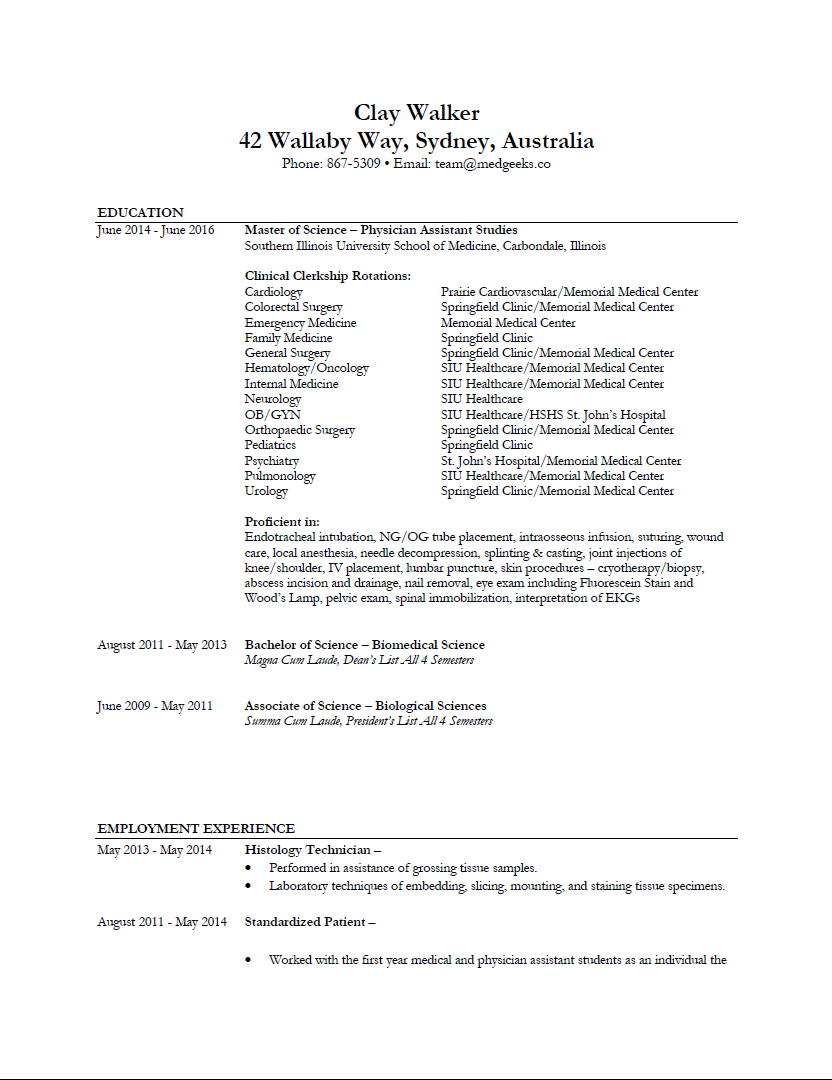 Sample Resume Pg 1