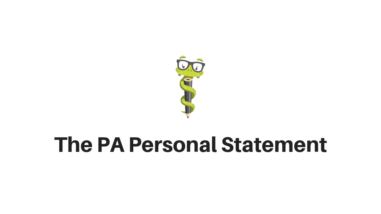 Medgeeks PA Personal Statement