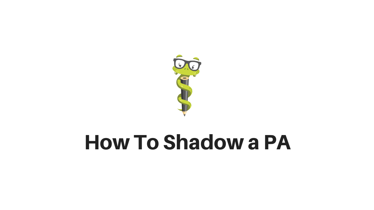 Medgeeks Shadowing a PA