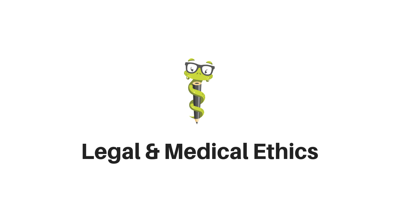 Medgeeks Legal and Medical Ethics on the PANCE