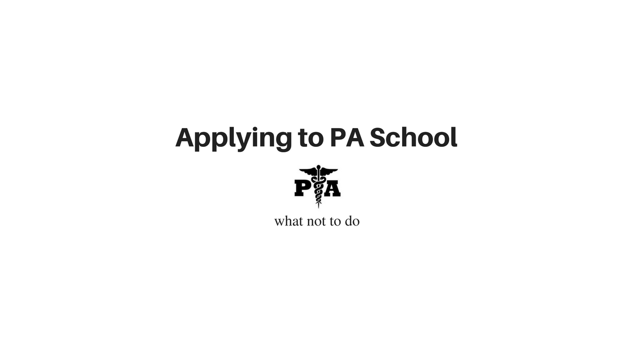 Medgeeks Applying to PA School