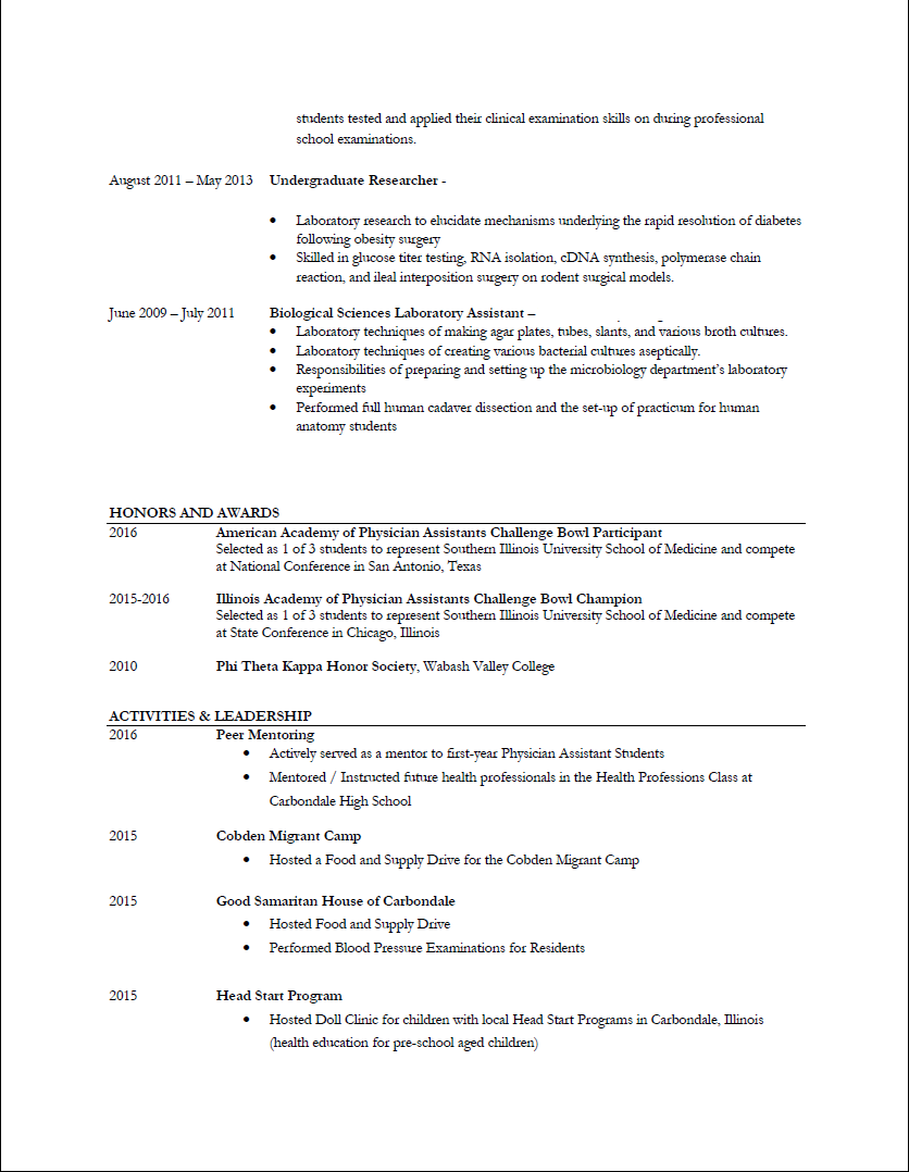Sample Resume Pg 2